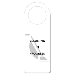 CLEANING IN PROGRESS DOOR HANGER