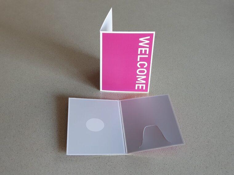 2 panel key card holders